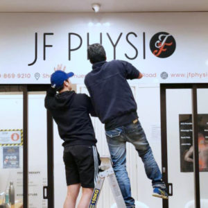 JF Physio under construction